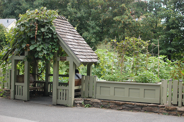 Planter Boxes at Brooklyn Botanic Garden