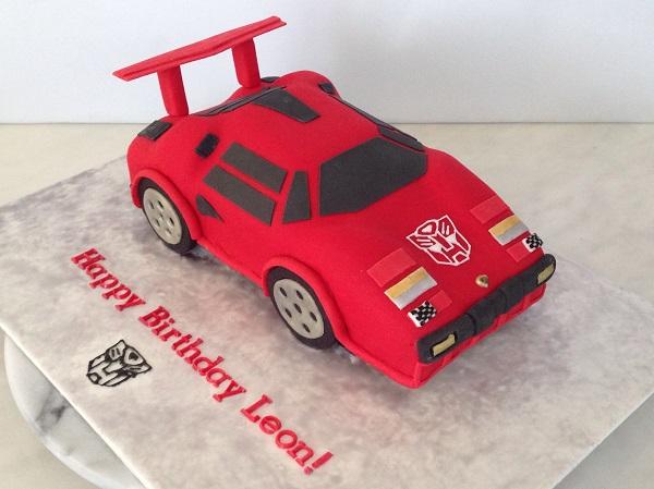 Transformer car cake