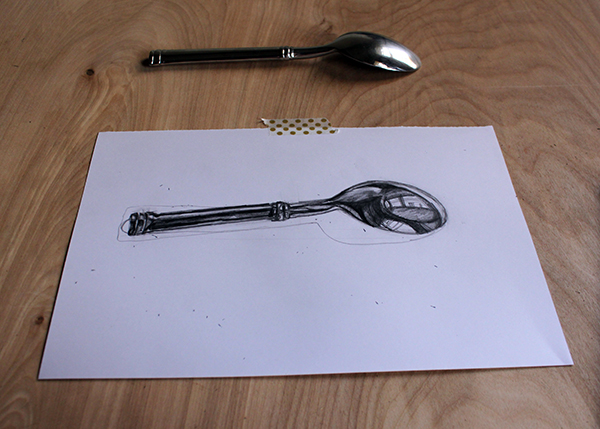 Adding value to a spoon drawing