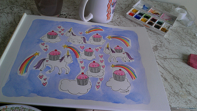 Watercolor paint works best on absorbent paper