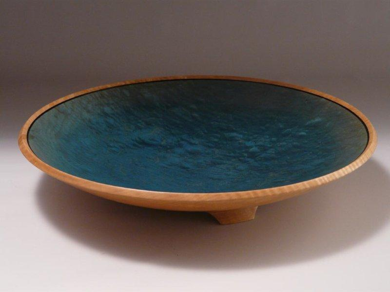 Shallow Woodturned Bowl