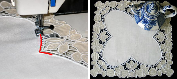 cutwork edging doily