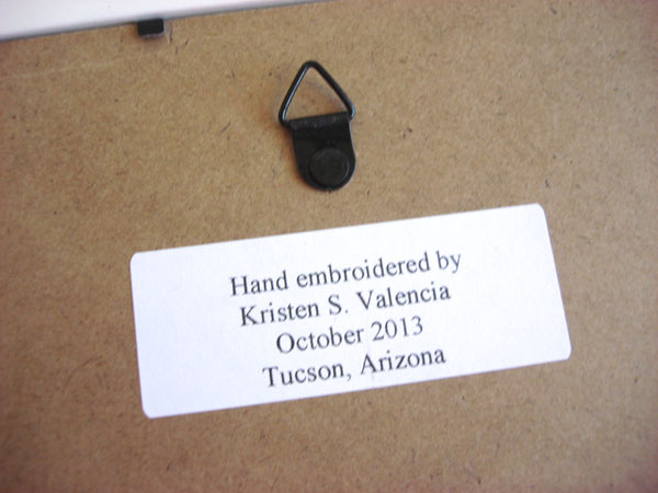 labeling embroidery