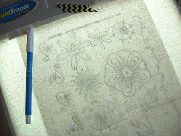 embroidery pattern light box