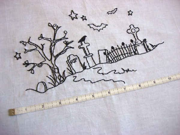 measure embroidery