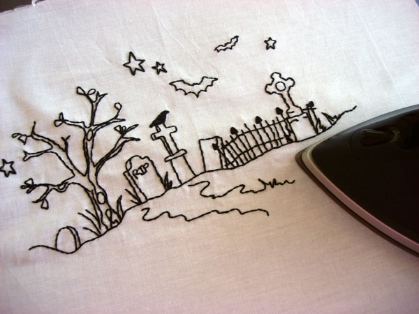 pressing embroidery