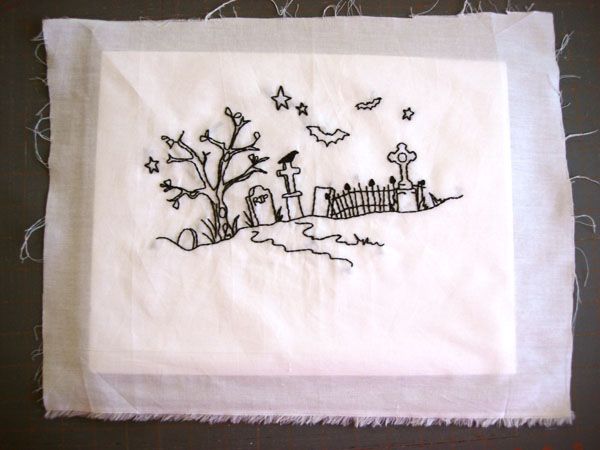 mounting embroidery
