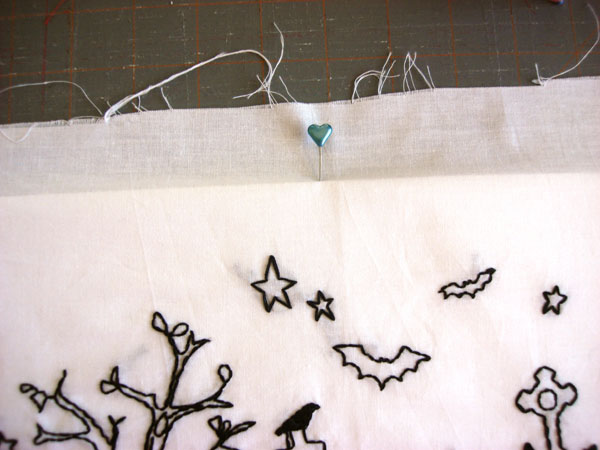 pinning embroidery