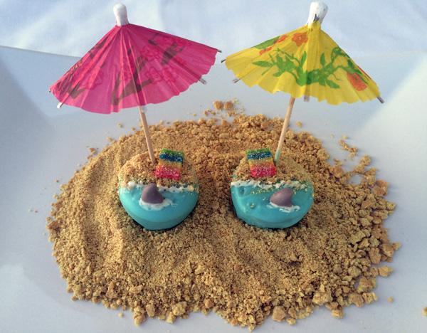 shark beach cake pops