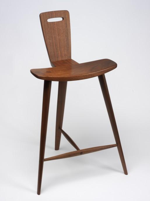 Tage Frid walnut three-legged stool