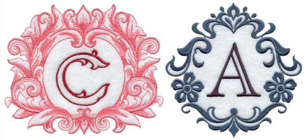 Embroidery Library Grand Flourish and Damask Alphabet