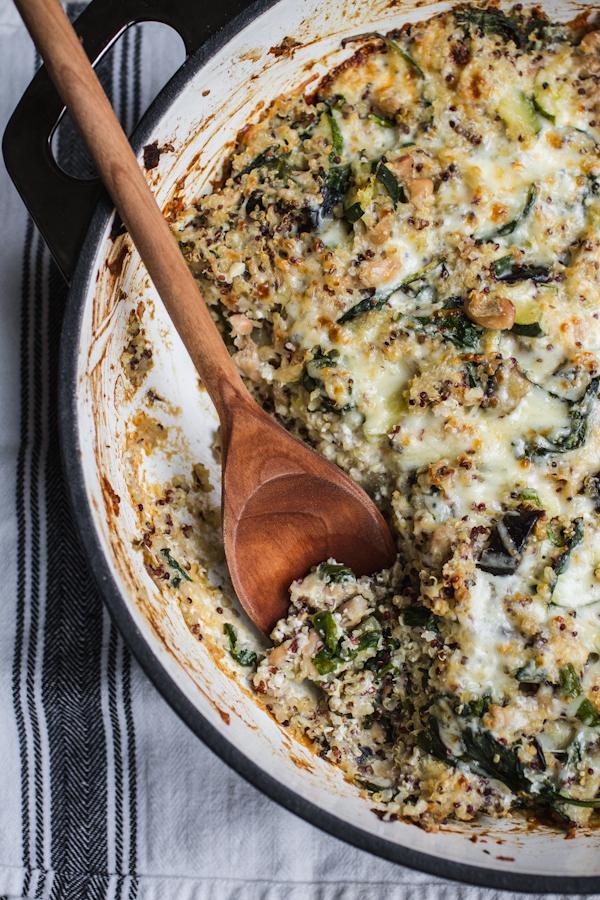 Cheesy Vegetable Quinoa Casserole