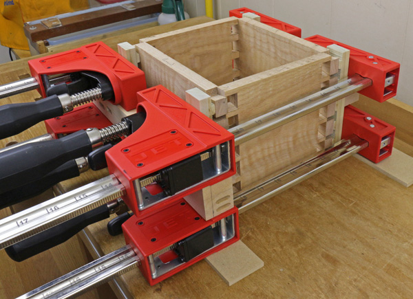 dovetail joinery: clamp rehearsal