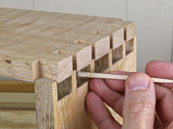 Gluing dovetail joints