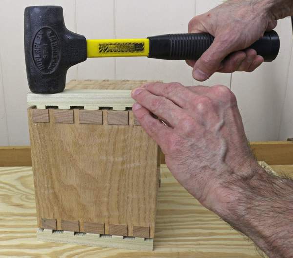 pounding home dovetails