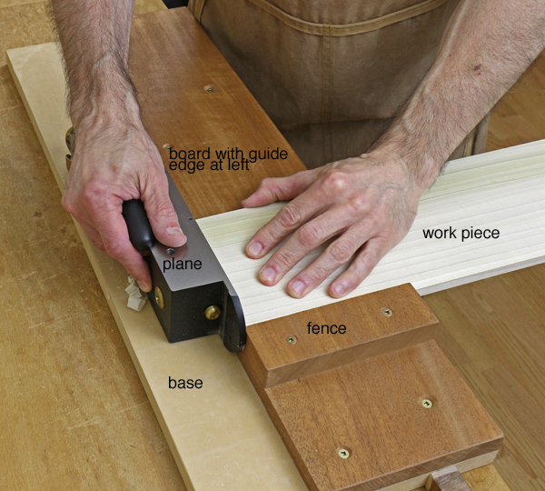 Overview of a shooting set up for woodworking