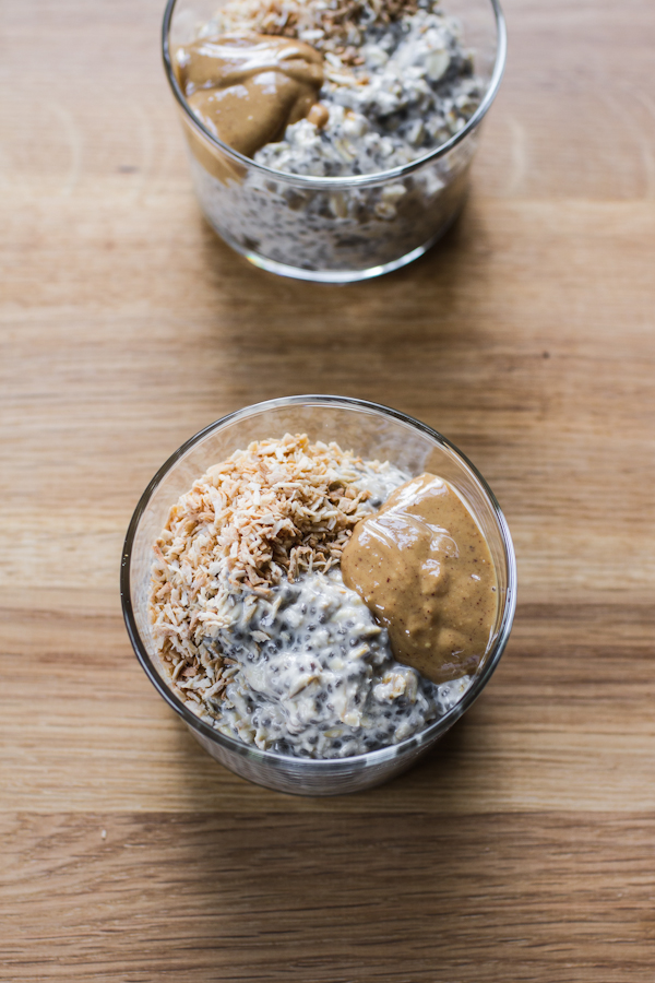 Vegan Overnight Oats With Toppings