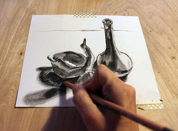 Condensed charcoal