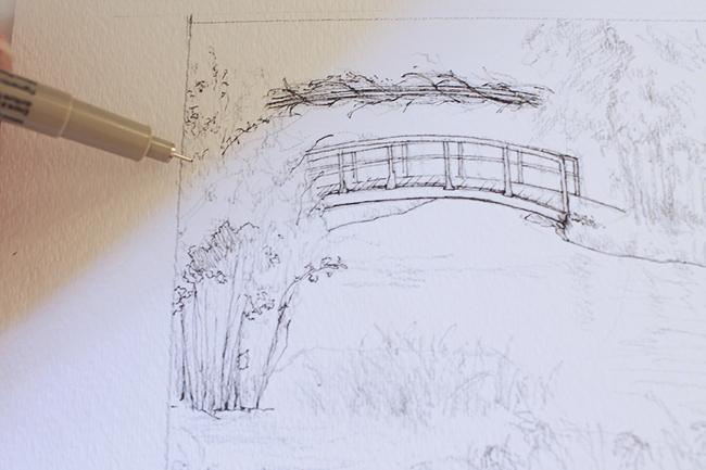 inking drawing