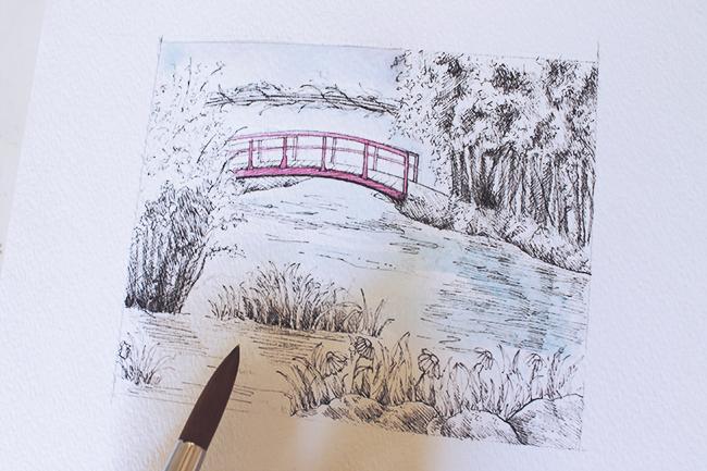 initial watercolor wash