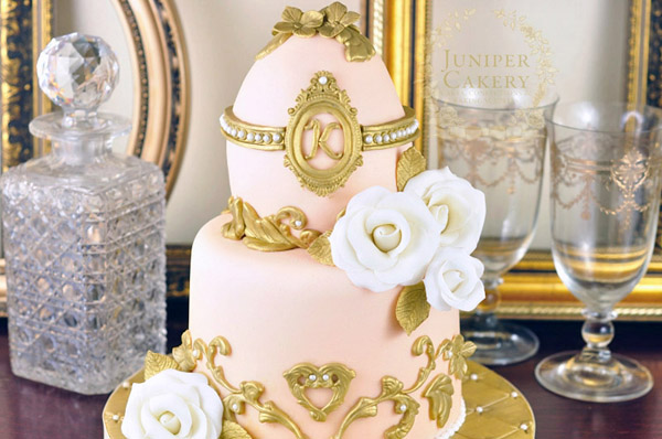 Hand-Painted Faberge Easter Egg Cake