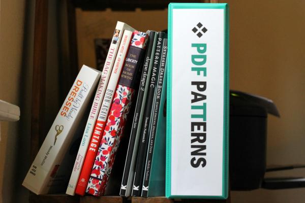 pdf sewing pattern storage binder shelf