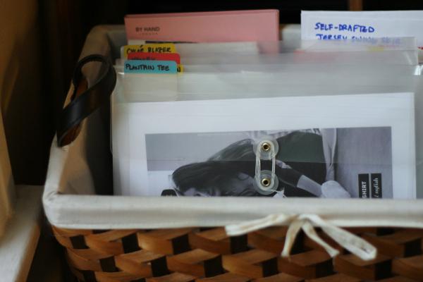 PDF Sewing Pattern Plastic Envelopes in Basket