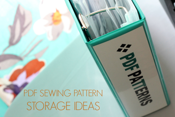 pdf sewing pattern storage ideas title photo