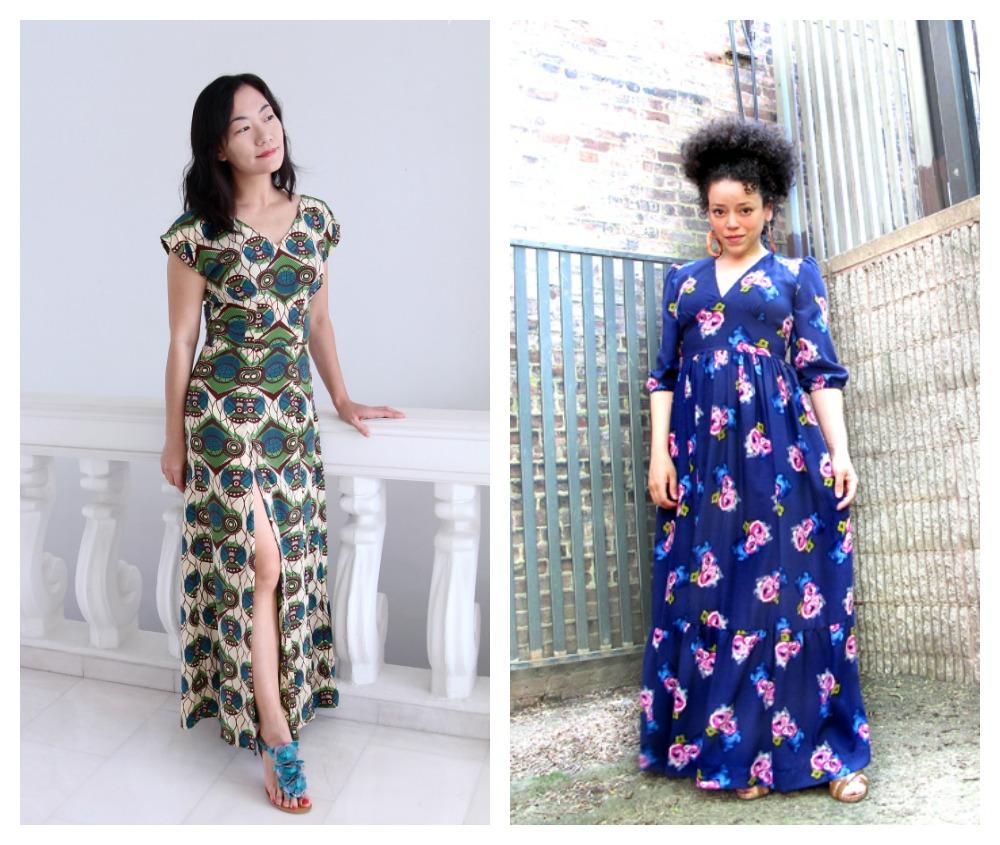 Elegant maxi dress patterns