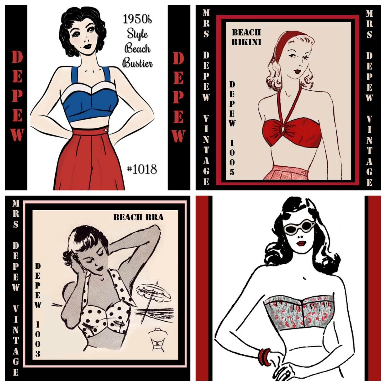 Mrs. Depew Vintage Swimsuit Patterns