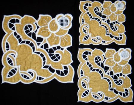 Cutwork Lace Rosebud Doily by Advanced Embroidery Designs
