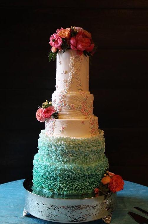 Fondant Frills Wedding Cake