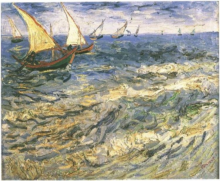 Seascape at Saintes Maries by Van Gogh