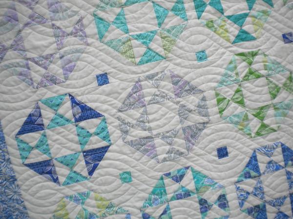 Sea glass summer quilt
