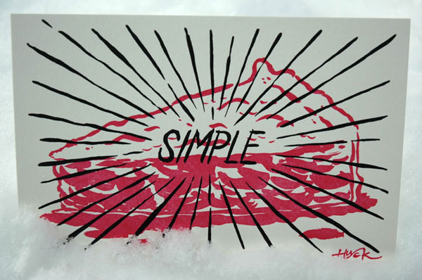 Simple letterpress print