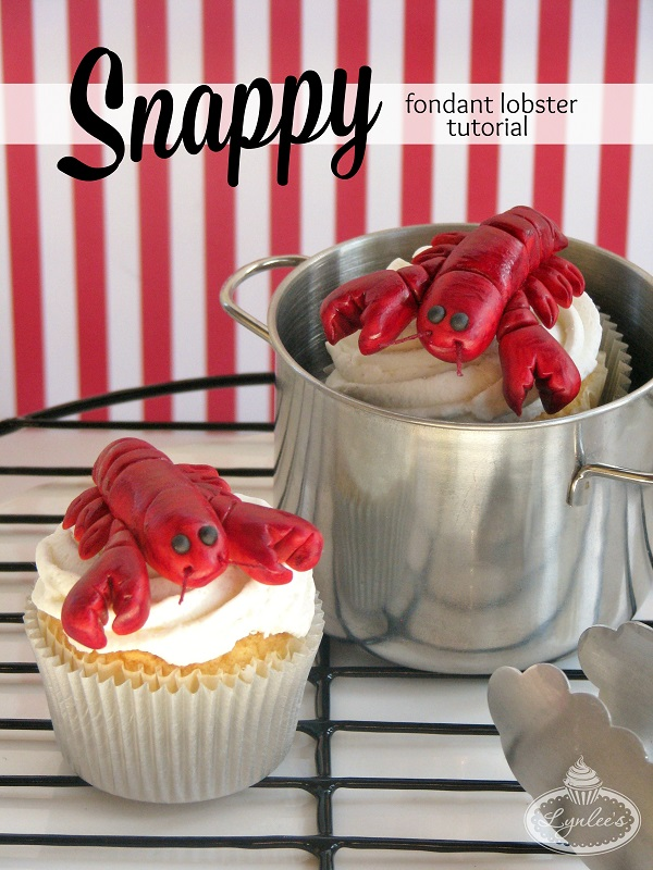 Snappy Fondant Lobster Tutorial