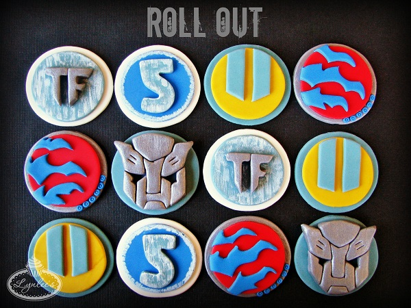 Transformers Fondant Cupcake Toppers