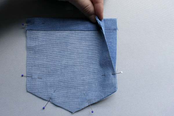 Twin Pockets Sewn Together