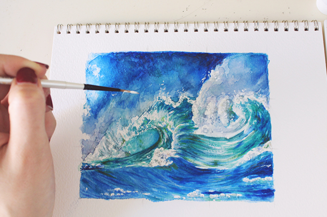 Final painting crashing waves