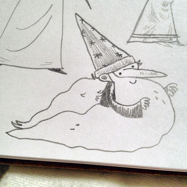A wizard drawing