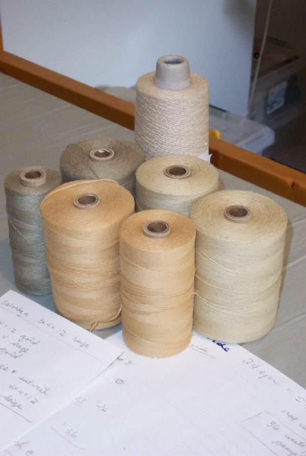 Showing a selection of linen yarns