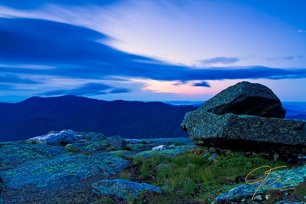 Long exposure clouds from Mt. Washington, NH.