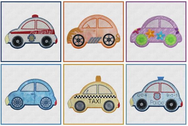 Cute Cars by Marjorie Busby.