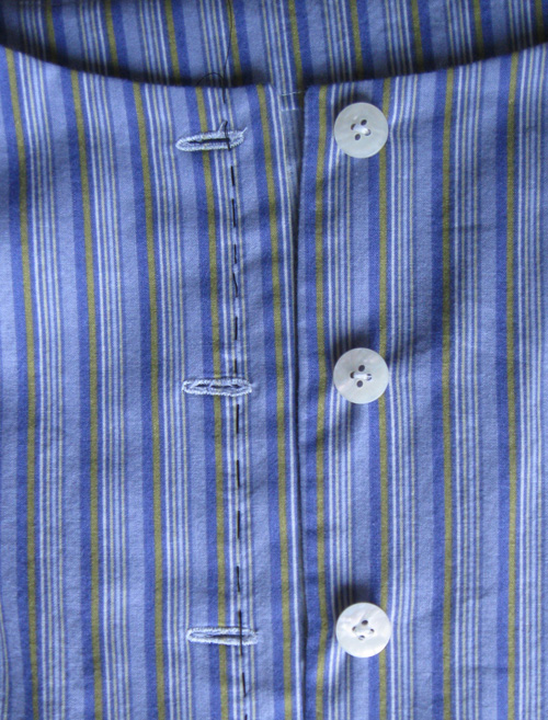 example of buttonhole marking