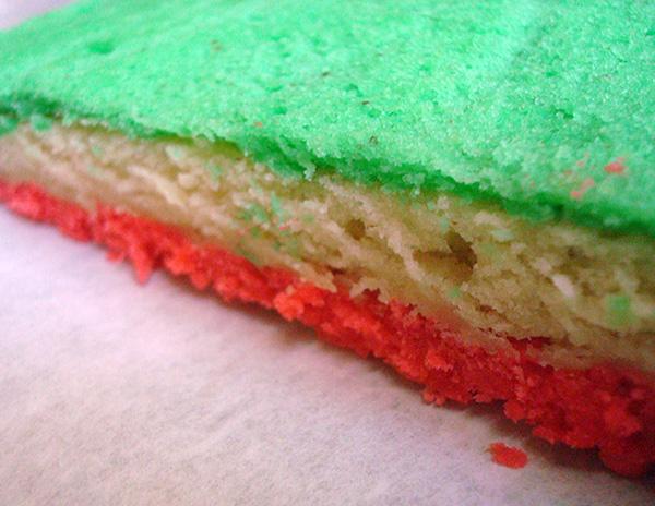 A perfect tricolor stack