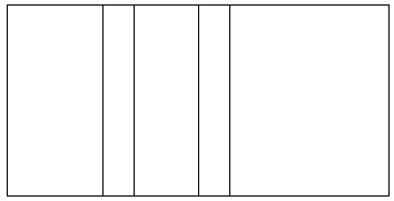Outline of stripes in Fibonacci proportions