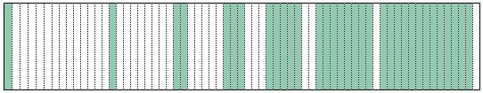 diagram of shading with fibonacci numbers