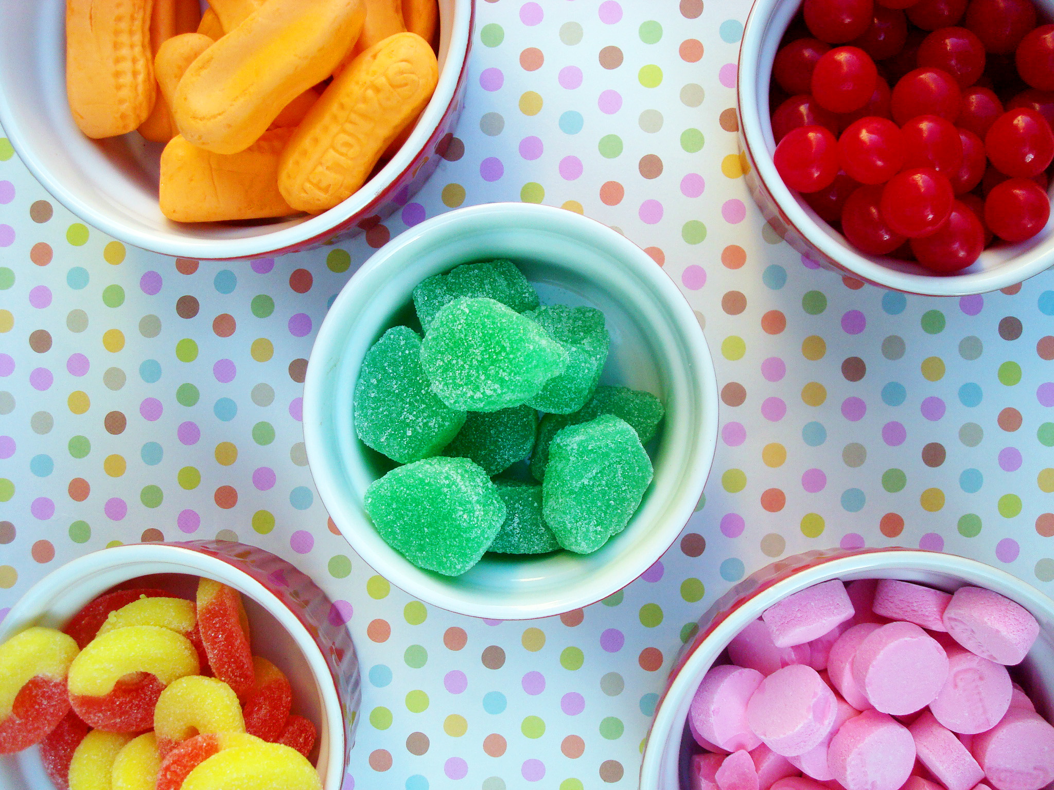 Different colors of candy