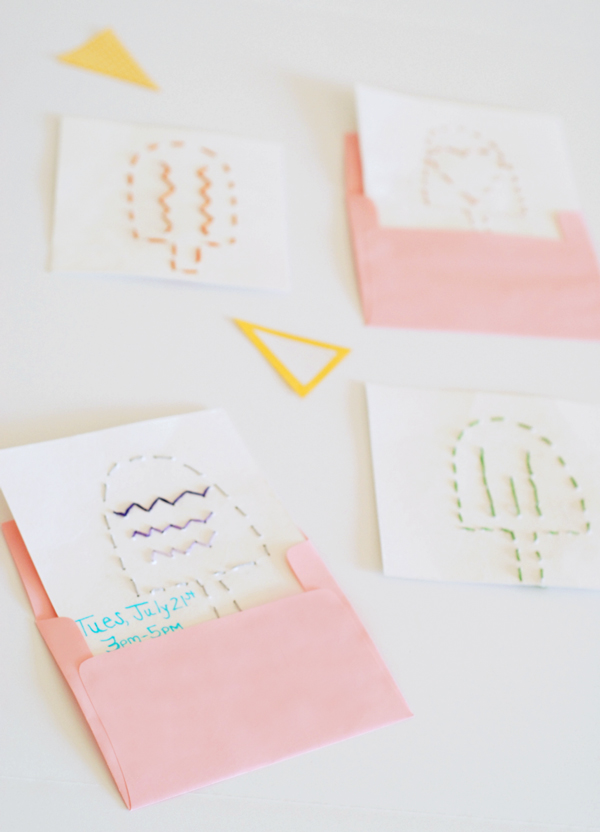 Embroidered Invitations