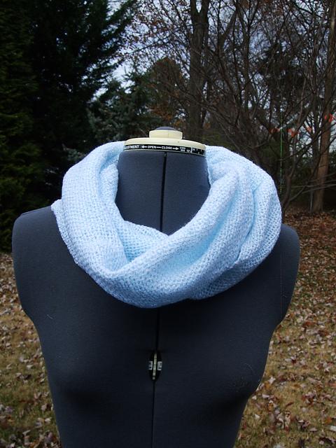 blue cowl scarf